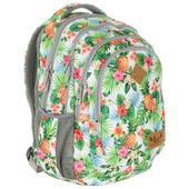 Plecak szkolny młodzieżowy Astra Hash HS-07, w kwiaty tropikalne i ananasy
