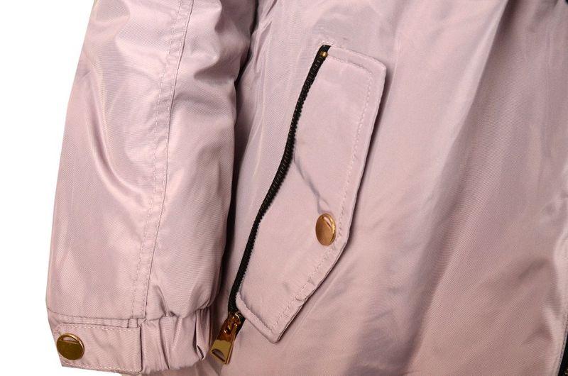 Dwustronna kurtka damska parkapikowana LILIOWA Duży rozmiar 4XL