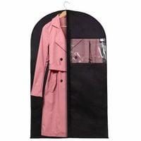 Organizer na ubrania 100 cm pokrowiec na garnitur z suwakiem i okienkiem czarny