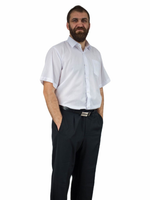 40/41 - L Elegancka koszula męska BIAŁA z krótkim rękawem
