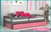 Łóżko dla dzieci HUGO COLOR 180x80 + szuflada + materac