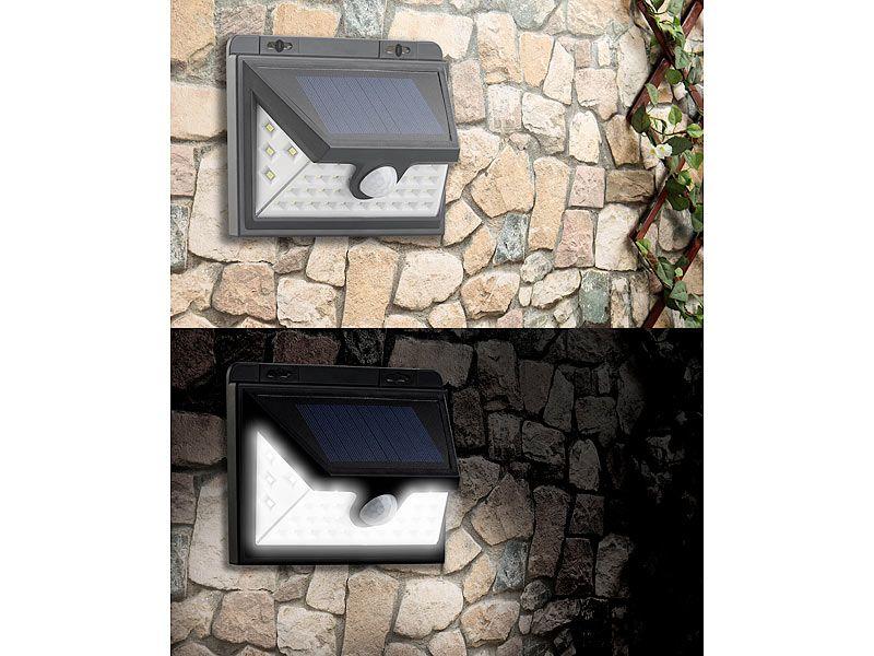 Kinkiet solarny LED z czujnikiem ruchu 350 lm / 7,2 W Luminea WL-735.s zdjęcie 6