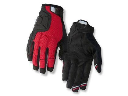 Rękawiczki męskie GIRO REMEDY X2 długi palec dark red black grey roz. M (obwód dłoni 203-229 mm / dł. dłoni 181-188 mm) (NEW)