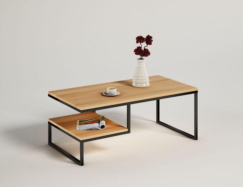 Stolik Kawowy 100x50 Dębowy Sosna Jesion Metalowy Drewno Lite Loftowy