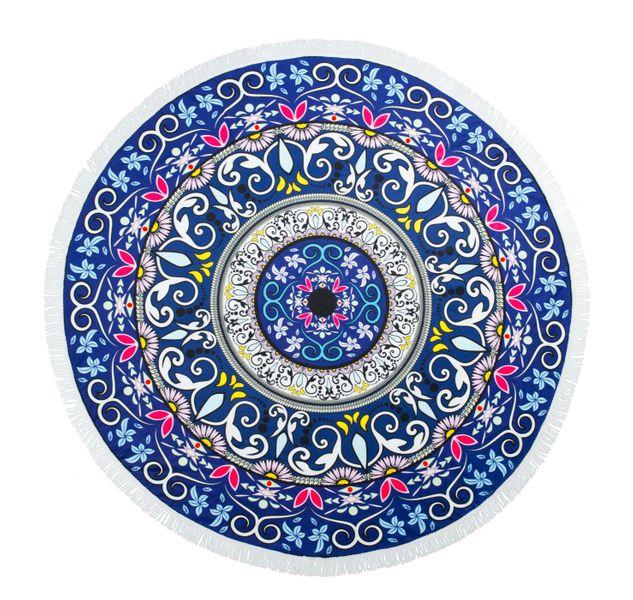 RĘCZNIK PLAŻOWY BOHO okrągły z frędzlami 165 cm zdjęcie 1