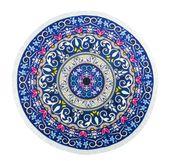 RĘCZNIK PLAŻOWY BOHO okrągły z frędzlami 165 cm