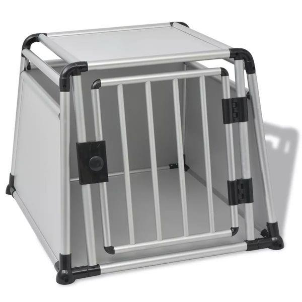 Klatka transportowa dla psa, aluminium, rozmiar L zdjęcie 1