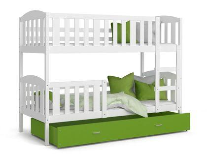 Łóżko piętrowe KUBUŚ 160x80 + szuflada + materace