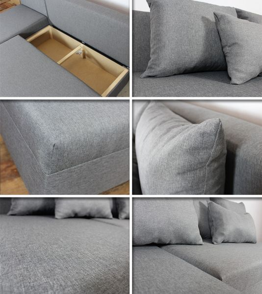 Tani narożnik rozkładany PONO z pojemnikiem - sofa rogówka łóżko zdjęcie 8