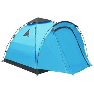 Namiot turystyczny typu pop-up 3-osobowy niebieski VidaXL