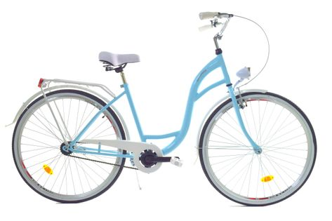 """Rower Dallas City 28"""" 1spd - niebieski z białym"""