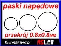 pasek napędowy audio video przekrój 0,8 x 0,8 mm duży wybór