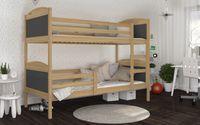 Łóżko piętrowe MATEUSZ bez szuflady 190x80 + materace