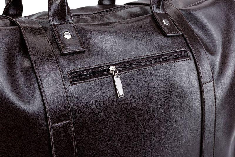 6b38329170be6 Stylowa brązowa męska torba podróżna/ na siłownię Solier • Arena.pl