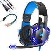 Słuchawki GAMINGOWE dla graczy KOTION G2000 LED mikrofon M151