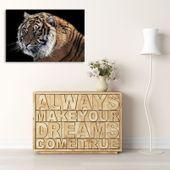 Obraz na płótnie - Canvas, Tygrys 3 70x50 zdjęcie 4