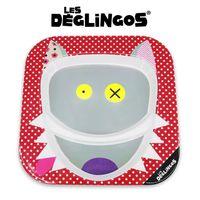 Les Deglingos Talerz z melaminy Wilk Bigbos