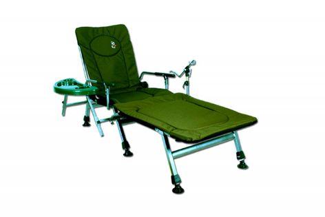 Fotel wędkarski CARP F5R ze stolikiem uchwytem na wędkę i podnóżkiem