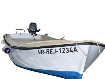 2 x NUMERY WODOODPORNE rejestracyjne łódkę ŁÓDŹ jachty samoprzylepne