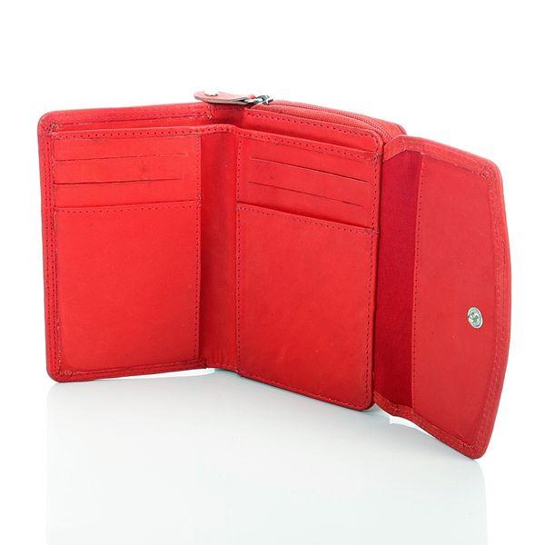 dea7193ff7d68 ... Czarny pastelowy damski portfel ze skóry zdjęcie 3 ...