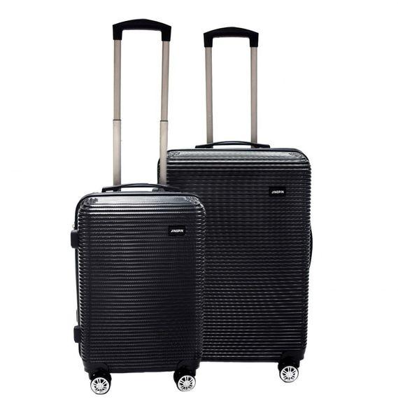 WALIZKA walizki kółka torba samolot ZESTAW M + L CZARNE 1073+1074 zdjęcie 1