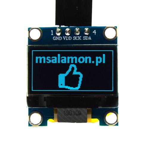 """Wyświetlacz OLED 0,96"""" SPI  Niebieski dla Arduino STM32 na Arena.pl"""