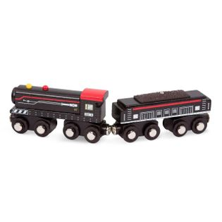 B.Toys drewniany pociąg wagon i lokomotywa czarny