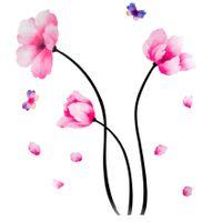 Naklejki na ścianę ścienne Kwiaty Motyle WS-0013