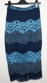 Spódnica koronkowa niebieska New Look 36