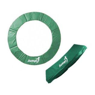 Osłona na sprężyny i pokrowce na słupki na trampolinę 435 cm 14 FT 8 słupków zielony JUMPI