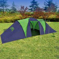 Namiot Turystyczny 9-Osobowy, Niebiesko-Zielony