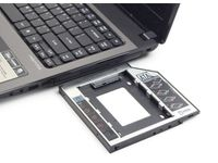 "ADAPTER HDD RAMKA 5.25""->2.5"" SLIM 9.5MM ( HDD W MIEJSCE CD/DVD W LAPTOPIE) GEMBIRD"