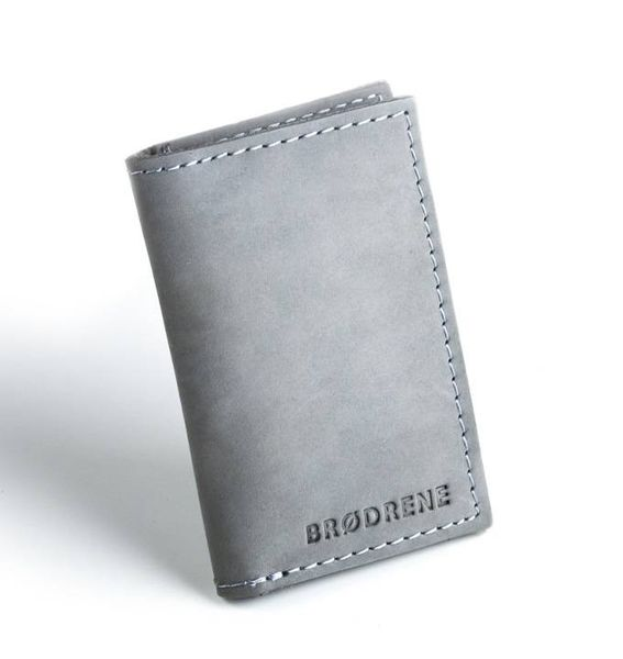 5a8c85af5b95d Szary skórzany portfel slim wallet brodrene sw03 • Arena.pl