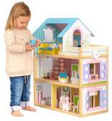 Domek dla lalek Drewniany Duży Ekologiczny HAPPY HIPPO