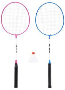 Zestaw rakietek do badmintona 2 sztuki + lotka Nils NRZ001 steel