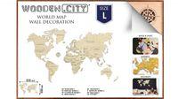 Puzzle 3D Mapa Świata Rozmiar L Kolor Naturalny