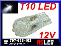 żarówka 4 LED T10 w5w w3w BIAŁA ZIMNA 12v