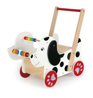 Wózek pchacz edukacyjny piesek Viga 50290c