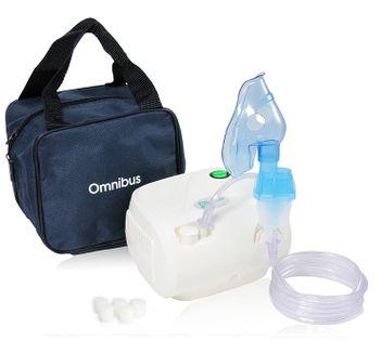 Inhalator nebulizator dla dzieci i dorosłych OMNIBUS BR-CN116 Biały