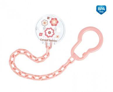 Canpol Łańcuszek do smoczka Newborn baby Kolor - Różowy