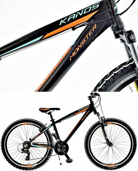 Rower 26' KANDS MONSTER ALUMINIUM CZARNO-POMARAŃCZOWY MAT 2020r na Arena.pl