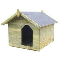 Buda Dla Psa Z Otwieranym Dachem, Impregnowane Drewno Sosnowe