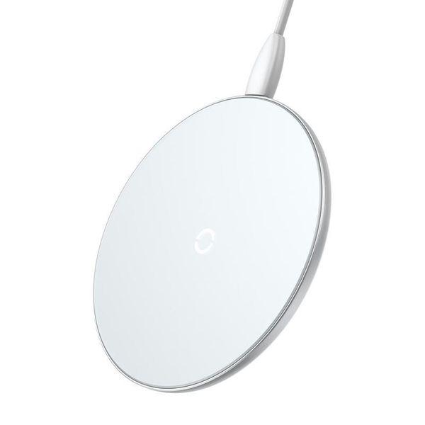 Baseus Simple - Bezprzewodowa ładowarka indukcyjna Qi do iPhone i Android 10W (biały) zdjęcie 1