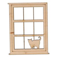 AD960 Prostokątne okno z kotkiem