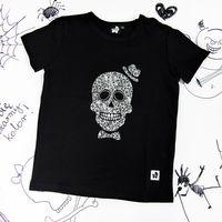 Rockowa koszulka dziecięca z krótkim rękawem Skull Boy Mia Rock 116