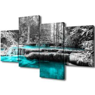 Obraz Na Ścianę 120X70 Wodospad Wodospad Dżungla