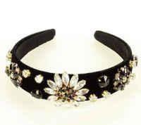 Wytworna opaska biżuteryjna ozdoba na włosy diadem tiara czarna MAZZINI