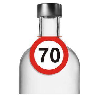 """Zawieszki na alkohol, """"Urodziny 70 Traffic Birthday"""", 10 szt"""