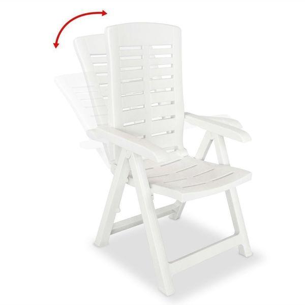 Krzesło Krzesła Ogrodowe Rozkładane 4 Sztuki Białe