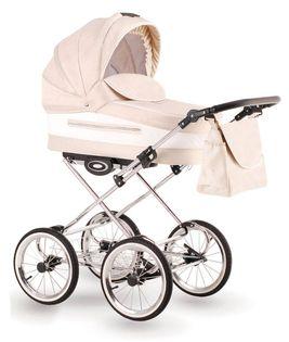 Eleganto wózek dziecięcy retro Lonex 3w1 kremowy